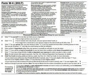 TradeSherpa_W4 Form Instructions