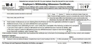 TradeSherpa_W4 Form Personal Tax Strategy