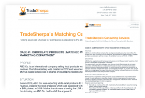TradeSherpa's Expert Matching Capabilities and Consulting Services