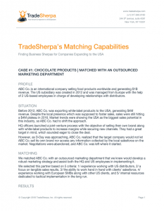 TradeSherpa's Matching Capabilities-CLICK TO READ